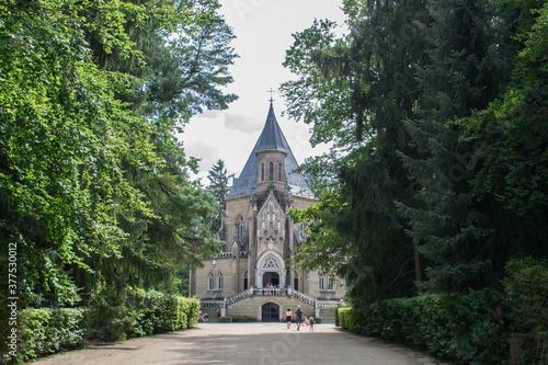 Obraz na plátně Schwarzenberska hrobka, Czech Republic, old castle forest summer sunny day histo