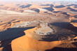 canvas print picture - The sossusvlei desert helicopter view
