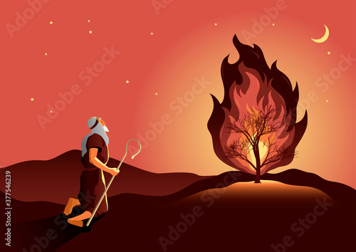 Fotomural Moses and the burning bush