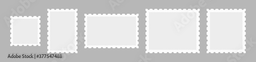 Set Postage stamps template Fotobehang