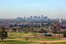 Skyline Of Downtown Phoenix, A...