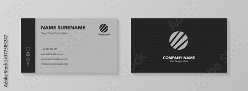 Obraz Creative business card design with icons. Vector - fototapety do salonu