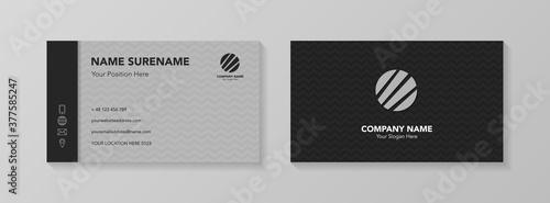 Fototapeta Creative business card design with icons. Vector obraz
