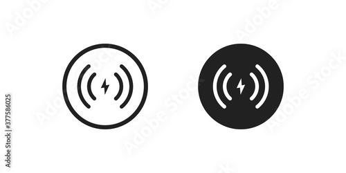 Obraz na plátně Wireless charger icon concept