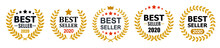Set Best Seller Icon Design Wi...