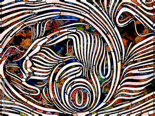 Fototapeta Synergies of Stained Glass obraz
