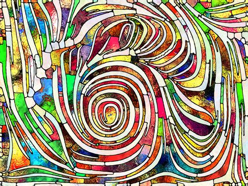 Fototapeta Inner Life of Stained Glass obraz