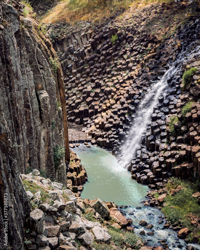 Prismas basálticos en Huasca de Ocampo, Hidalgo, México.
