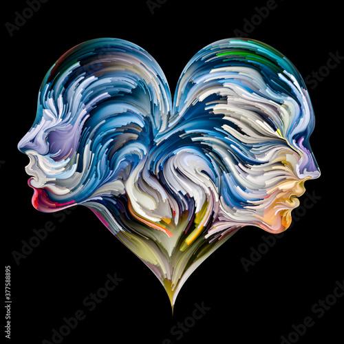 Fototapeta Colorful Heart abstraction. obraz