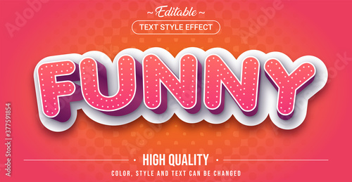 Editable text style effect - Funny theme style. Fotobehang