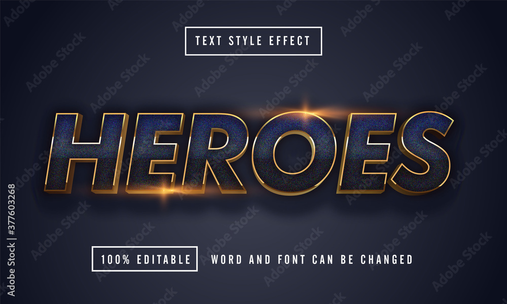 Fototapeta Blue Heroes Text Effect Editable premium download