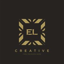 EL Initial Letter Luxury Ornament Monogram Logo Template Vector