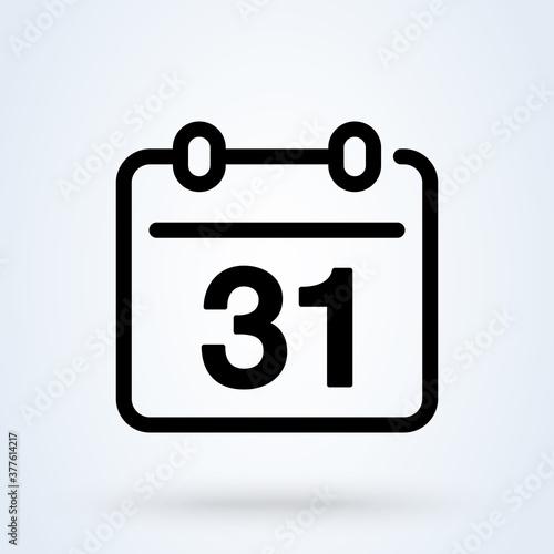 Papel de parede Calendar or date sign line icon or logo