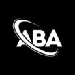 ABA logo. A B A design. White ABA letter. ABA/A B A letter logo design. Initial letter ABA linked circle uppercase monogram logo.