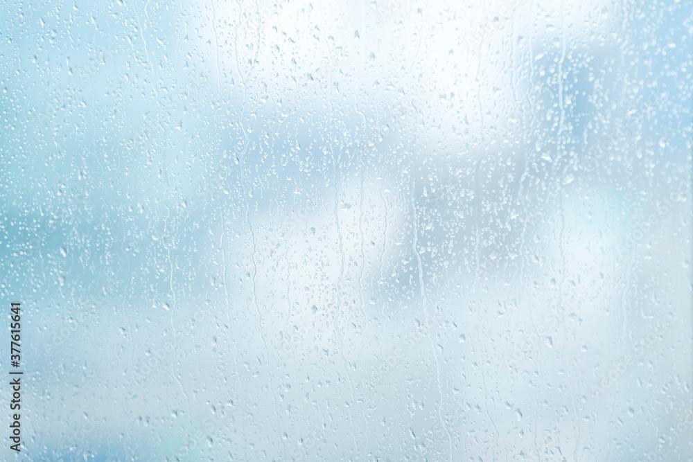 Fototapeta 雨 水滴 窓ガラス