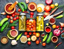 Assortment Of Pickled Vegetable