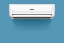 Front View Of Air Conditioner ...