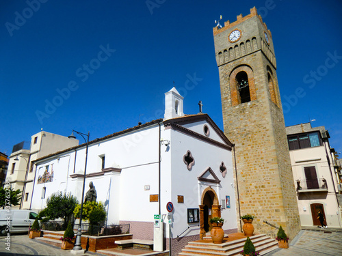Photographie Chiesa di San Luigi Gonzaga con torre dell'orologio, San Luigi Gonzaga Church, A