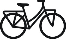 Line Art Of A Bicycle