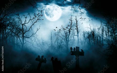 Halloween background template for designer Fototapet