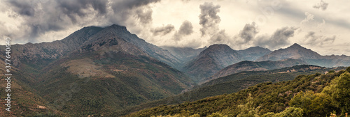 Panoramic view of Mountains of Corsica Slika na platnu