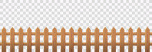 Wooden Picket Fence Isolated O...