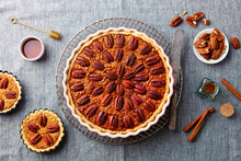 Pecan Nut Pie, Tart In Baking ...