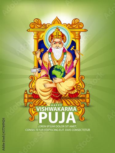 celebration for Vishwakarma Jayanti, a Hindu god, the divine architect. Vishwakarma Puja