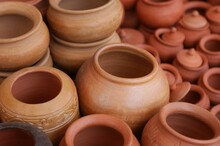Clay Pots In The Market