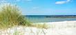 Leinwanddruck Bild Ostsee im Sommer mit Dünengras am Meer