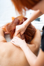 Neck And Face Massage Is Maste...