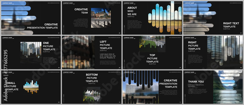 Fotografie, Obraz Presentation vector templates, multipurpose template for presentation slide, flyer, brochure cover, infographic report