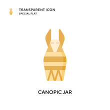 Canopic Jar Vector Icon. Flat ...