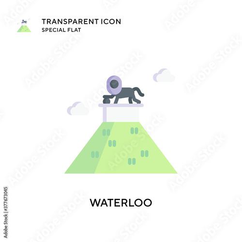 Obraz na plátně Waterloo vector icon. Flat style illustration. EPS 10 vector.