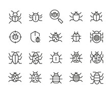 Set Of Outline Vector Icons Re...
