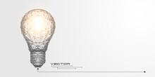 Glowing Light Bulb .Lamp Of Li...