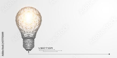 Photo Glowing light bulb