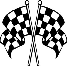 Racing Finish Checkered Flag Eps Vector Cut File For Cricut And Silhouette