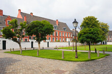 Small Beguinage Onze-Lieve-Vrouw Ter Hoye (Petit Béguinage Notre-Dame De Hoye), Ghent, Belgium, Unesco World Heritage Site.