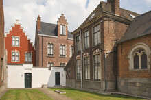 Small Beguinage Onze-Lieve-Vrouw Ter Hoye (Petit Béguinage Notre-Dame De Hoye), Gent, Belgium, Unesco World Heritage Site.