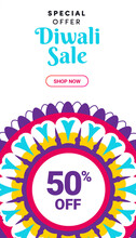 Diwali Sale Poster For Festive...