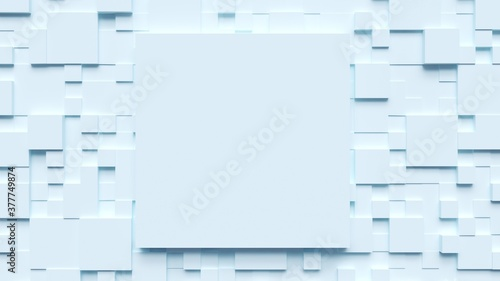 Fotografie, Obraz Volumetric white cubes with space for text .3d render