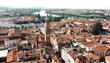 aerial view of casal monferrato, italy