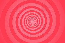Red Spiral Background. Swirl, Circular Shape On Red Background.