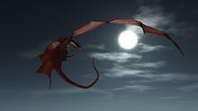 Fantasy Illustration Of A Red ...