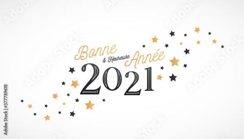 Fototapeta Bonne et heureuse année 2021 - Carte de voeux obraz