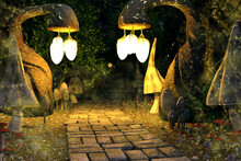 Magical Mushroom Valley With A...