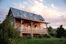 Western Cabin Sunset