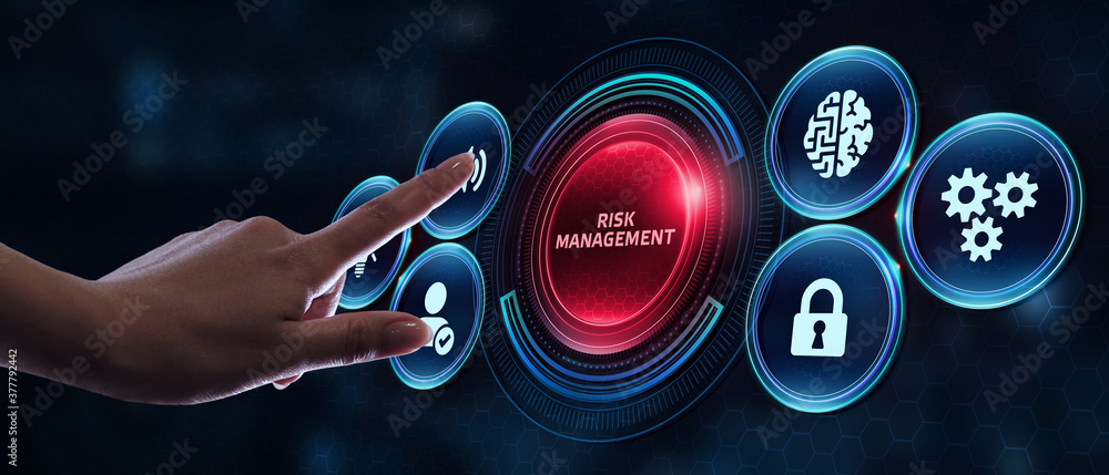 Fototapeta Risk Management and Assessment for Business Investment Concept. Business, Technology, Internet and network concept.