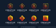 Monogram Abstract Initial B Lo...